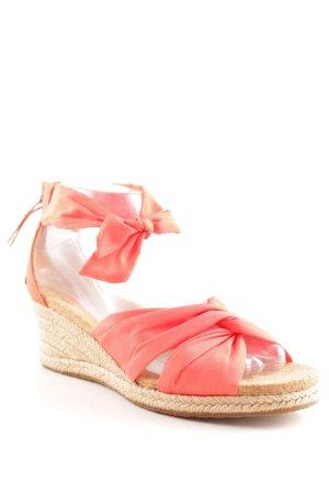UGG Wedge Sandals dark orange-light brown beach look