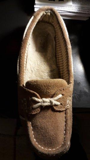 UGG Zapatillas para casa marrón arena Gamuza