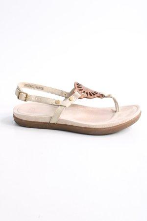 UGG Sandalo toe-post crema stile casual