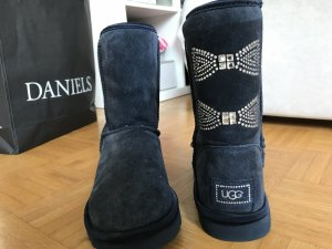 UGG Botas azul oscuro-color plata