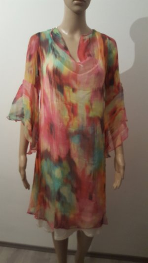 High Low Dress multicolored silk