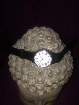 Self-Winding Watch white-black synthetic material