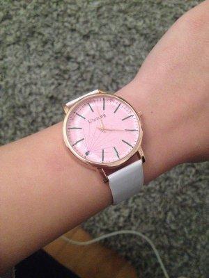Self-Winding Watch white-pink imitation leather