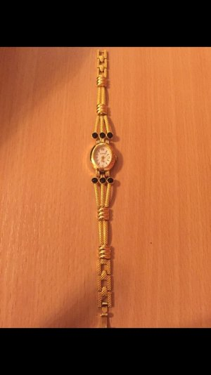 Horloge goud-zwart