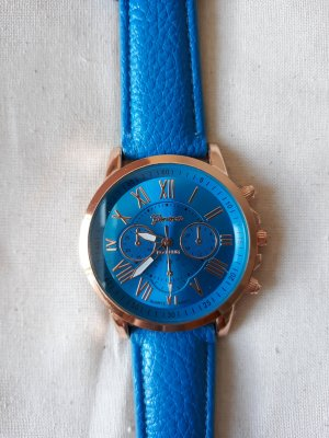 Watch gold-colored-blue
