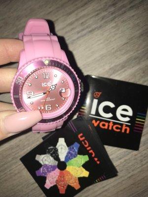 Ice watch Reloj con pulsera de cuero rosa-rosa claro
