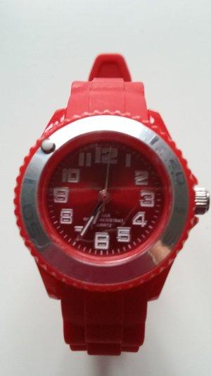 Orologio analogico carminio Materiale sintetico