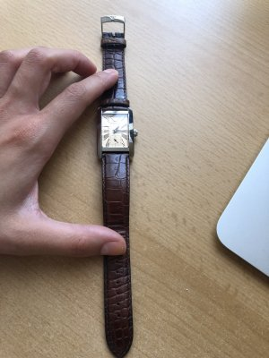 Armani Watch With Leather Strap brown