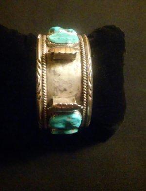 Uhr Armband Damen Herren Silber 925 Türkis Steinen