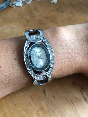 Chanel Fermoir de montre argenté