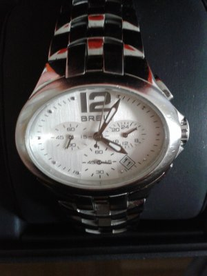 Uhr Chronograph Breil oval mit Edelstahlarmband