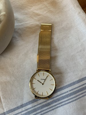Cluse Watch With Metal Strap gold-colored-white