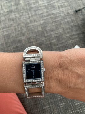 Dolce & Gabbana Watch With Metal Strap black-silver-colored