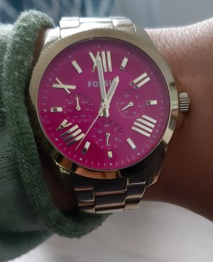 Fossil Watch With Metal Strap rose-gold-coloured-gold-colored