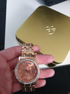 Yves Camani Watch With Metal Strap gold-colored
