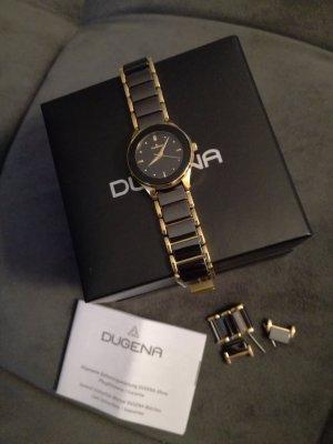 Orologio con cinturino di metallo nero-oro