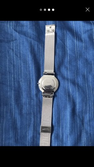 Watch black-silver-colored