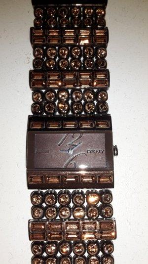 Uhr DKNY bronze mit Steinchen