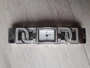 Uhr DKNY Edelstahl Swarovski alle Steine inkl