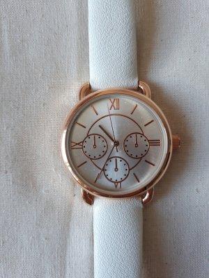 Orologio bianco-color oro rosa