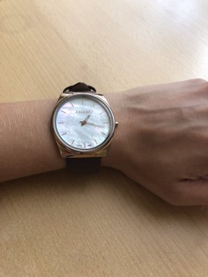 Escada Watch With Leather Strap brown