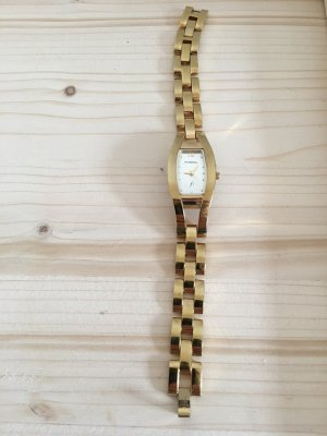 Uhr f2 Fossil in gold