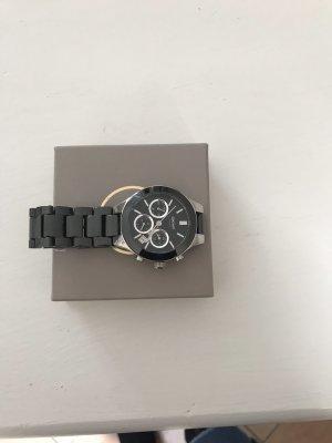 Michael Kors Horloge met metalen riempje zwart