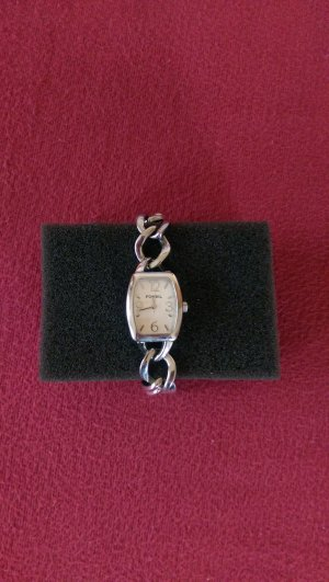 Fossil Orologio con cinturino di metallo argento-bianco