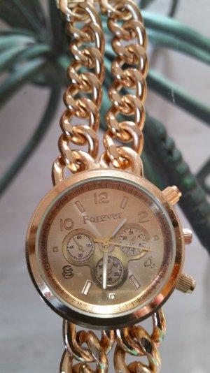 Uhr goldfärbig mit Kettenband