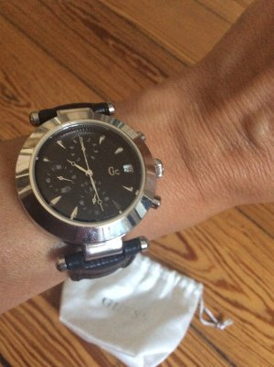 Guess Reloj automático negro-color plata
