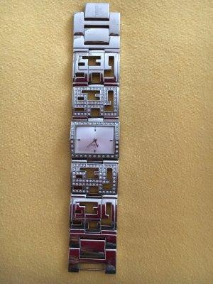 Guess Orologio con cinturino di metallo argento Metallo