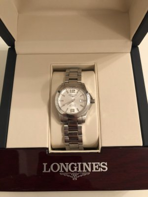 Longines Watch With Metal Strap silver-colored metal