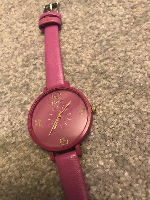 Uhr magenta/pinkfarben – Länge 22 cm – neu und ungetragen
