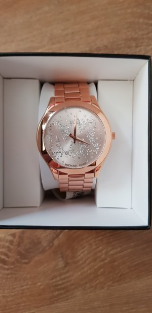 Uhr Michael Kors rosegold mit Mk Zeichen aus Steinen