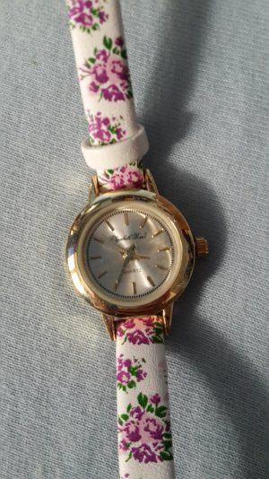 Uhr mit Blumenmuster