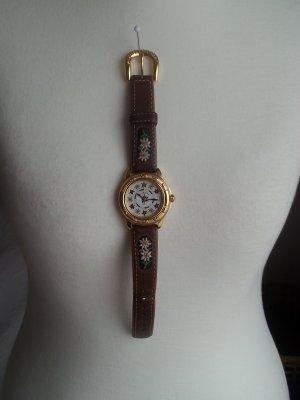 Uhr mit Edelweiß Details