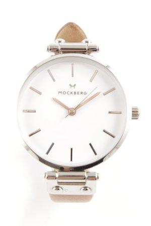 Uhr mit Lederarmband braun Casual-Look