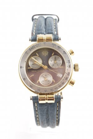 Watch With Leather Strap multicolored casual look