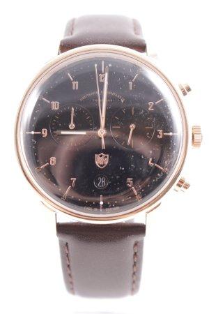 Uhr mit Lederarmband mehrfarbig Casual-Look