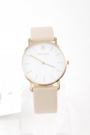 Watch With Leather Strap multicolored simple style