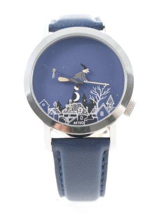 Uhr mit Lederarmband Motivdruck Casual-Look