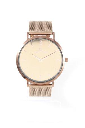 Uhr mit Metallband bronzefarben Elegant