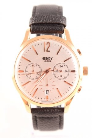 Watch With Metal Strap black-rose-gold-coloured casual look