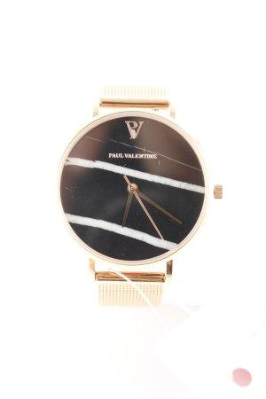 Montre avec bracelet métallique motif rayé style décontracté