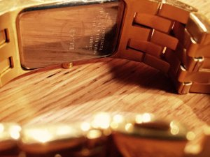 Uhr Neu Just Cavalli Golden Stainless Steel Watch, 100% Original