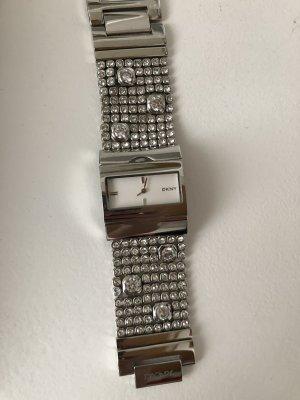 Uhr neu Silber mit Swarovski Steinen