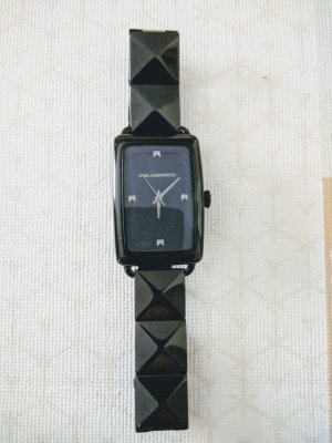 Karl Lagerfeld Watch With Metal Strap black-anthracite