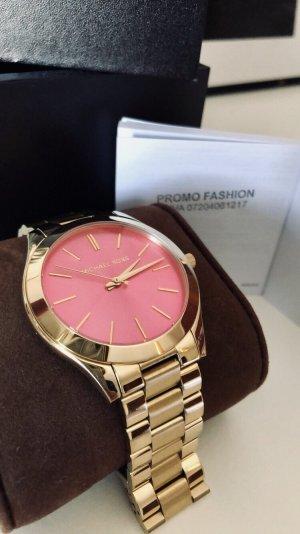 Uhr rosa Zifferblatt MK