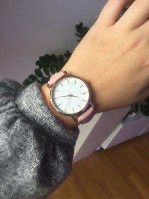 Uhr Rose Roségold weiß neu