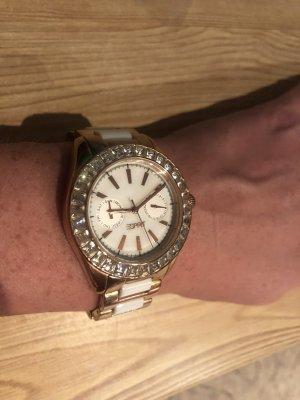 Uhr Roségold/weiß